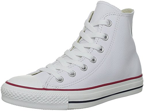 Converse Chuck Taylor All Star Leather High Top Shoe, white, 11 M US