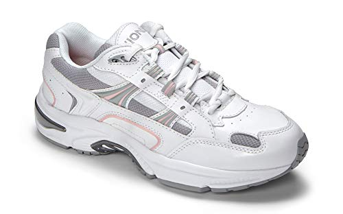 Vionic Women's Walker Classic Shoes, 7 B(M) US, White/Pink