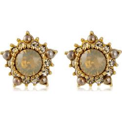 Crystal Pentagon Shaped Earstuds Earrings