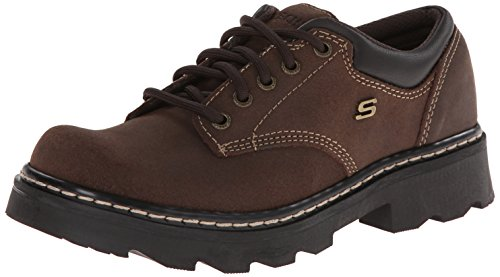 Skechers Women's Parties-Mate Oxford,Chocolate Suede Leather,7 M US