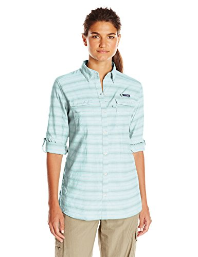 Columbia Sportswear Women's Super Bonehead II Long Sleeve Shirt, Candy Mint Stripe, Small