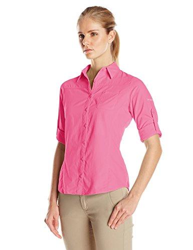 Columbia Sportswear Women's East Ridge Long Sleeve Shirt, Tropic Pink, X-Large