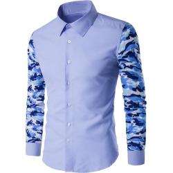 Button Up Camo Sleeve Shirt