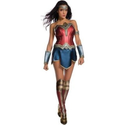 wonder woman movie adult costume and wig kit x small size xs multicolored - Wonder Woman Movie Adult Costume and Wig Kit-X-Small, Size: XS, Multicolored