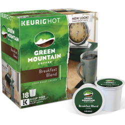 Keurig K-Cup Pod Green Mountain Coffee Breakfast Blend Coffee – 108-pk, Multicolor