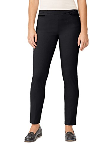89th&Madison Woven Leather Trim Tapered Pants