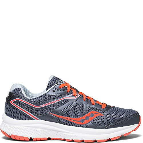 Saucony Women's Cohesion 11 Running Shoe, Grey/Red, 8 Medium US