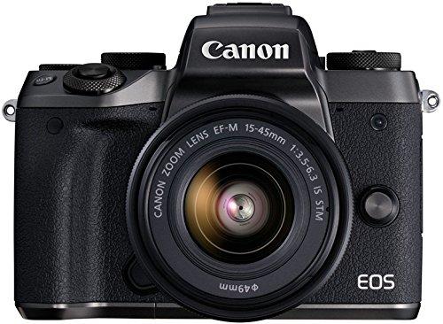 Canon EOS M5 Mirrorless Camera Kit 15-45mm Lens Kit – Wi-Fi Enabled & Bluetooth