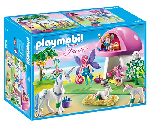 playmobil fairies with toadstool house - PLAYMOBIL Fairies with Toadstool House