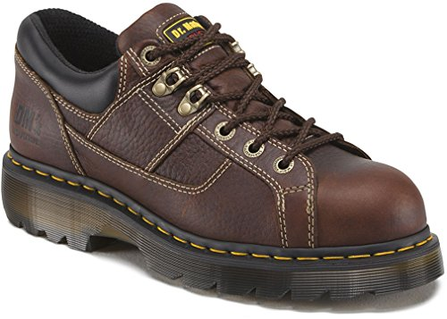 Dr. Martens Gunby Steel Toe Shoe,Teak,9 UK/11 M US Women's/10 M US Men's