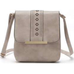 Europe Style Hollow Out Handbags Women PU Leather Crossbody Shoulder Bag