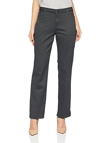 LEE Women's Petite Relaxed Fit All Day Straight Leg Pant, Charcoal Heather Gray, 16