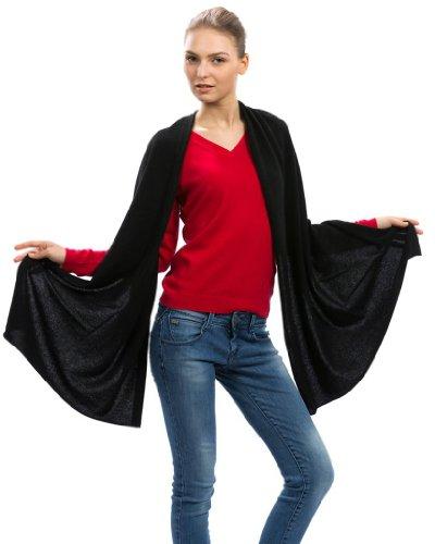 Cashmere Scarf Wrap – 100% Cashmere – by Citizen Cashmere (Black) (43 500-02-09)