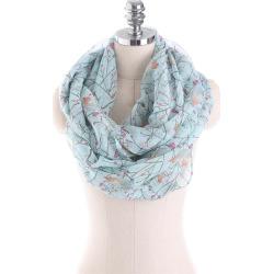 W1031 bird silk yarn bali scarf