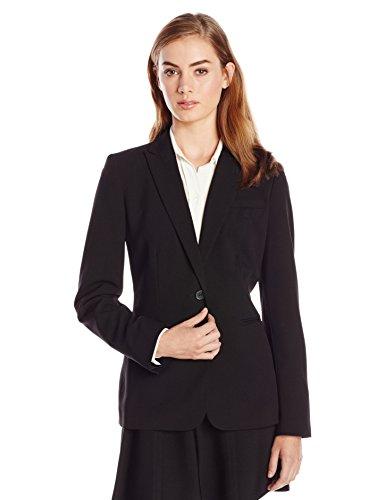 Calvin Klein Women's Single Button Suit Jacket,Black,14