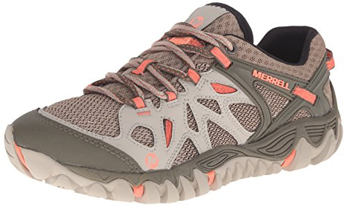 Merrell Women's All Out Blaze Aero Sport Hiking Water Shoe, Beige/Khaki, 8 M US