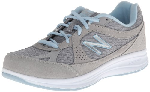 New Balance Women's WW877 Walking Shoe, Silver, 7.5 B US