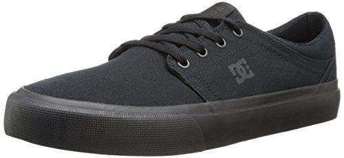 DC Men's Trase TX Skate Shoe, Black/Black/Black, 10 D M US