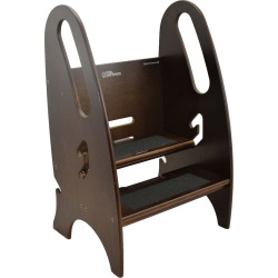 little partners 3 in 1 growing step stool brown - Little Partners 3-in-1 Growing Step Stool, Brown
