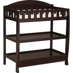 delta children infant changing table with pad dark chocolate - Delta Children Infant Changing Table with Pad - Dark Chocolate