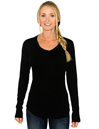 Woolx Eva – Women's Merino Wool Tunic Top – Midweight Merino Tunic Sweater – Warm & Soft, X-Large, Black