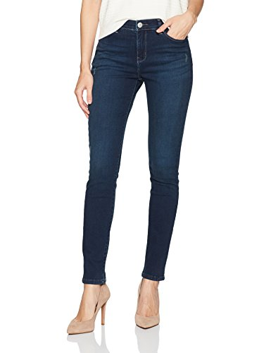 LEE Women's Slimming Fit Rebound Skinny Leg Jean, Electric – Destruction Features, 12