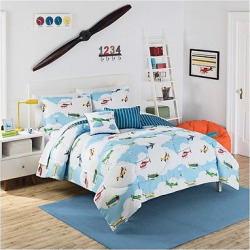 blue in the clouds reversible comforter set full waverly kids - Blue In the Clouds Reversible Comforter Set (Full) - Waverly Kids