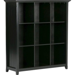 acadian 9 cube bookcase storage unit black simpli home - Acadian 9 Cube Bookcase & Storage Unit Black - Simpli Home