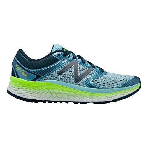 New Balance Women's Fresh Foam 1080v7 Running Shoe, Ozone Blue Glow/Lime Glow, 8 B US