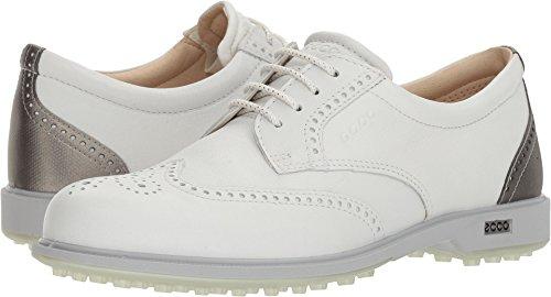 ECCO Women's Classic Hybrid Golf Shoe, White/Silver Metallic, 37 M EU (6-6.5 US)