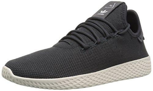 adidas Men's PW Tennis HU Sneaker, Carbon/Carbon/Chalk White, 7.5 Medium US