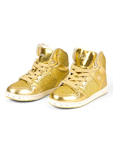 "Adult ""Glam Pie"" Glitter Gold Sneakers,PA133021GLD07.0,Gold,07.0"