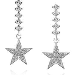 Rhinestone Star Dangle Drop Earrings