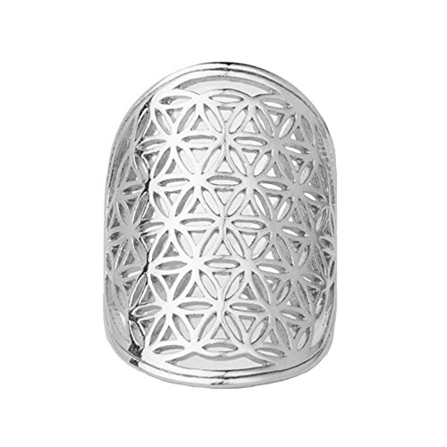 Silver Flower of Life Sacred Geometry Ring