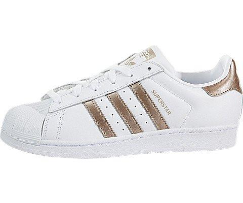 adidas Originals Women's Superstar Sneaker Cyber Metallic/White, 7.5 M US