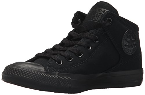 Converse Men's Street Tonal Canvas High Top Sneaker, Black/Black/Black, 12 M US