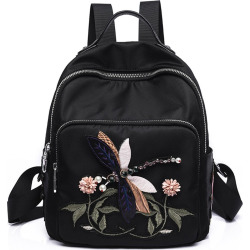 Embroidery Peony Flower Women Backpack School Bags For Girls Brand Animal Shoulder Bag