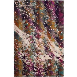 33x5 loomed accent rug creammagenta ivorypink abstract safavieh - 3'3X5' Loomed Accent Rug Cream/Magenta (Ivory/Pink) Abstract - Safavieh
