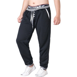 New Men'S Wear Line Elastic Waistband Pair Sweatpants