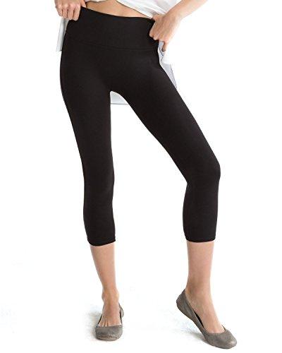 SPANX Women's Ready to Wow Capri Leggings, Black, Medium