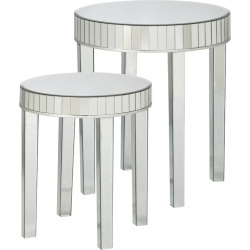 Southern Enterprises Julia 2-pc. Mirrored Nesting Table Set, Multicolor