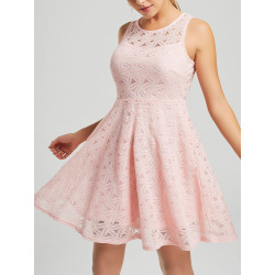 Sleeveless Lace Mini Cocktail Dress