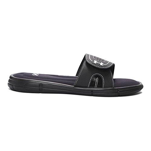 Under Armour Women's Ignite VIII Slide Sandal, Black (001)/White, 8