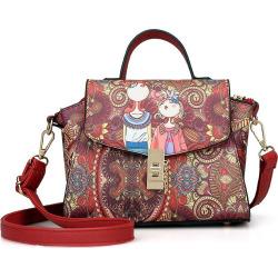 printing Casual fashion  PU Leather Tote Shoulder Handbag for Women