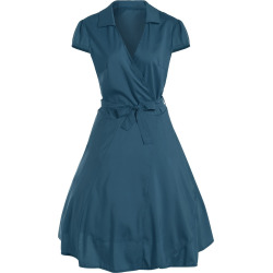 Surplice Tied Belt Dress