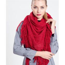 Z1575 plain fringed shawl