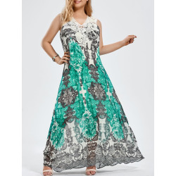 Plus Size Cap Sleeve Floral Maxi Dress