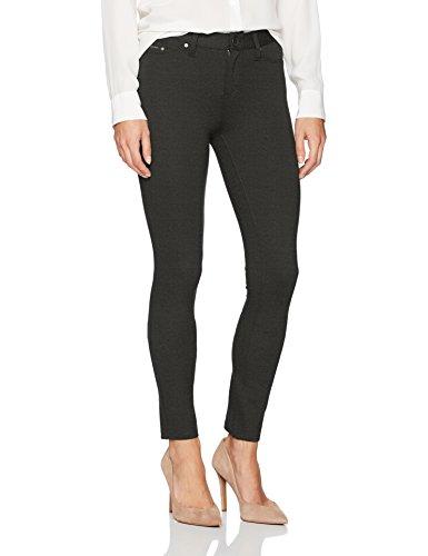Calvin Klein Jeans Women's 5 Pocket Ponte Legging Pant, Gun Smoke Heather, 28