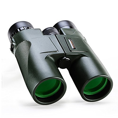 USCAMEL Binoculars Compact for Bird Watching, 10×42 Military HD Professional Hunting Telescope – Army Green