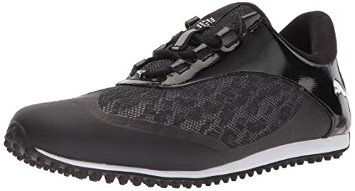 PUMA Golf Women's Summercat Sport Golf Shoe, Black/White, 8.5 Medium US
